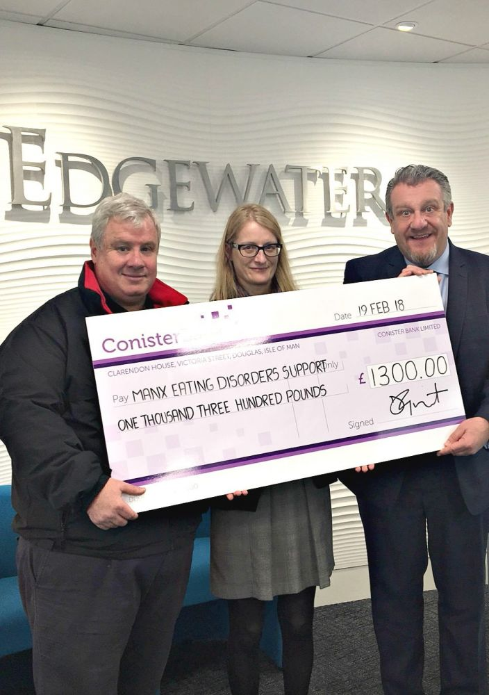 Eating Disorder charity cheque Presentation